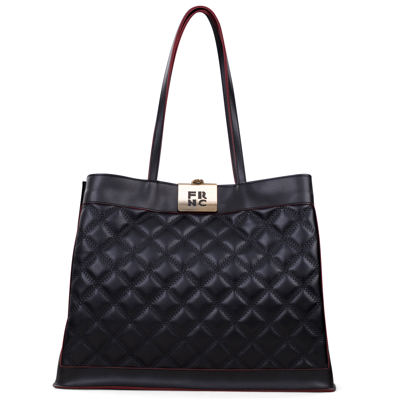Shopping γυναικεία Frnc Μαύρο 12102 - Έως 3 Άτοκες Δόσεις άνω των 60€