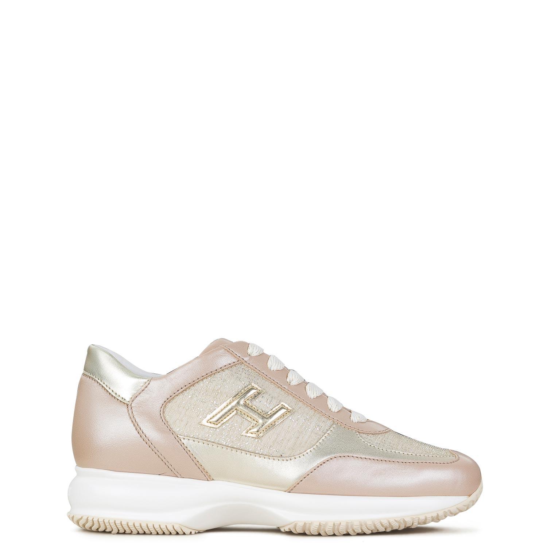 Sneakers γυναικεία Hogan Χρυσό Interactive