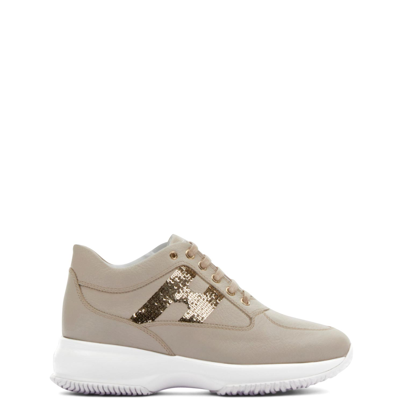 Sneakers γυναικεία Hogan Μπεζ INTERACTIVE H