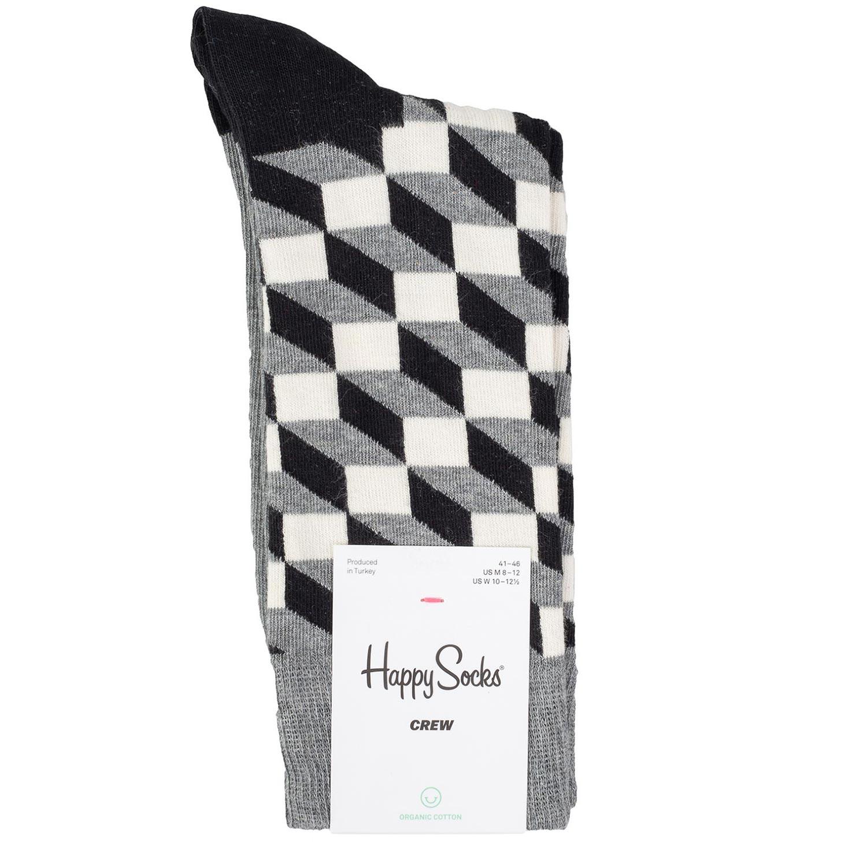 Κάλτσες ανδρικές Happy Socks Γκρι FILLED OPTIC - Έως 3 Άτοκες Δόσεις άνω των 60€