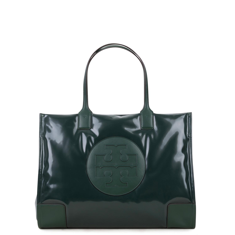 Shopping γυναικεία Tory Burch Πράσινο ELLA PUFFY VINYL TOTE - Έως 3 Άτοκες Δόσεις άνω των 60€